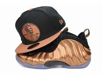 "Penny 1¢ One Cent Jet Black Metallic Copper Air Foamposite One ""Metallic Copper"" New Era Hat"
