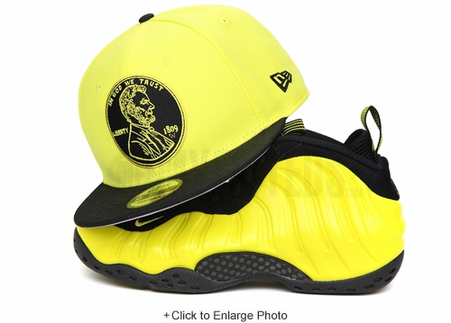 "Penny 1¢ One Cent Moonbeam Jet Black Air Foamposite One ""Wu-Tang"" New Era Snapback"