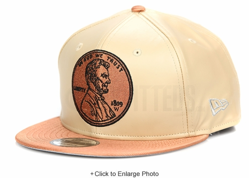 "Penny One Cent 1¢ Vachetta Tan Copper Air Foamposite Pro ""5 Decades of Basketball"" New Era Snapback"