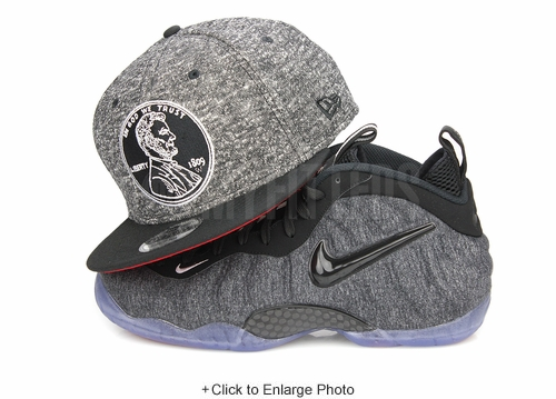 "Penny One Cent Jet Black NE Shadow Tech Jet Black Air Foamposite Pro ""Tech Fleece"" New Era Snapback"