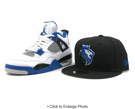 "Sacramento Kings Jet Black Club Royal Air Jordan I ""OG Royal Blue"" New Era Fitted Cap"