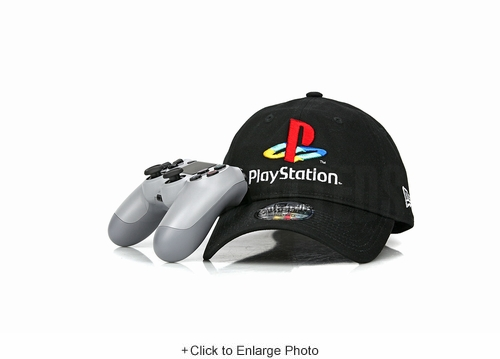 Sony PlayStation® Jet Black Official Color Buttons Logo New Era 9TWENTY Dad Hat