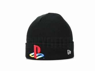 Sony PlayStation® Jet Black Official Color New Era CM Cuffed Beanie Winter Skully