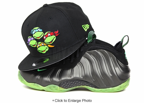 Teenage Mutant Ninja Turtles Jet Black Leonardo Michelangelo Donatello Raphael Faces New Era Snapback