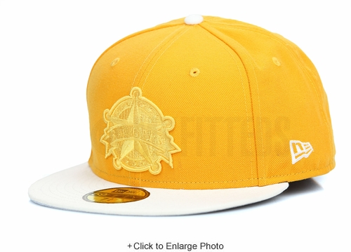 Texas Rangers Rich Gold Glacial White Argent Gold Custom New Era Fitted Cap