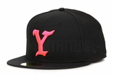 The Y Jet Black Infrared Bliss Yeezy Life of Pablo Inspired Yeezy Boost 350 V.2 Infrared New Era Hat