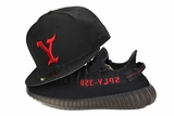 The Y Jet Black Scarlet Yeezy Life of Pablo Inspired Yeezy Boost 350 V.2 CP9652 New Era Hat