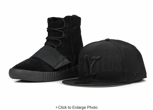 "The Y Jet Black Yeezy Life of Pablo Inspired Yeezy Boost 750 ""Pirate Black"" New Era Hat"