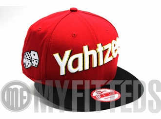 Yahtzee Red White Yellow Hasbro Board Game New Era Snapback Hat