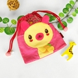 [Baby Partners] Embroidered Applique Kids HangBag / Drawstring Bag / Bucket Bag (6.8*7.1)