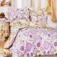[Baby Pink] 100% Cotton 5PC Comforter Set (King Size)