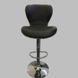 Black Hug Set of 2  Barstools Bar Chair Adjustable Swivel PU Seat