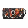 Blancho Bedding Womens [Branches] PU Leather Wristlet Wallet Zipper Purse Card Holder Fire