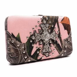 Blancho Bedding Womens [Leaves Elves] PU Leather Wristlet Wallet Zipper Purse Card Holder Brown