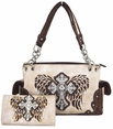 Blancho Bedding Womens [Old Castle] PU Leather Bag Set Elegant Wallet Hanbag Comobo Fashion Bag Ivory