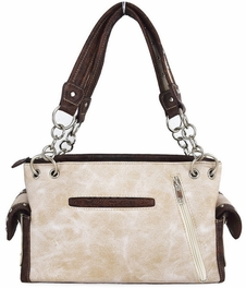 Blancho Bedding Womens [Old Castle] PU Leather Handbag Fashion Elegant Tote Bag Ivory