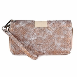 Blancho Bedding Womens [Retro Dragonfly] PU Leather Wristlet Wallet Zipper Purse Card Holder Beige