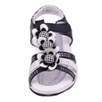 Blancho Junior Girls Fashion QQ291 Flowers Sandals Black