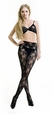 Blancho SE-139 Black Sheer French Lace Cami Body Stocking W/ Shimmering Clasp Detail - Black - Medium