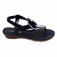 Blancho Toddler Girls Bowknot QQ30k Sandals Black