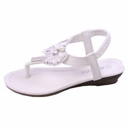 Blancho Toddler Girls Bowknot QQ30k Sandals White
