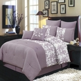 Bliss Purple Luxury 12-Piece Comforter Set Queen Size