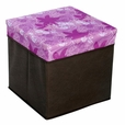 [Blooming Flowers] Square Foldable Storage Ottoman / Storage Boxes / Storage Seat