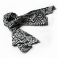 Brando Black & White Distinctive Leopard Animal Print Fashion Soft Silk Scarf/Wrap/Shawl(Small)