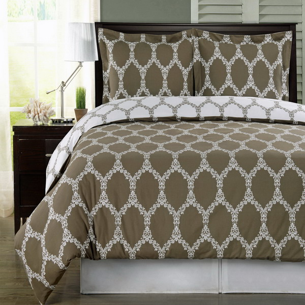 brooksfield taupe 100 egyptian cotton duvet cover set twin twin xl 2pc. Black Bedroom Furniture Sets. Home Design Ideas
