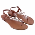 Centerpiece Flat Sandals COGNAC