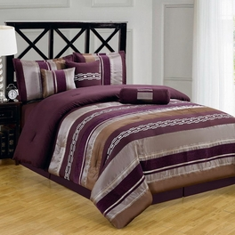 Claudia Purple 11-Piece Comforter Set Calking Size
