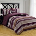 Claudia Purple 11-Piece Comforter Set Queen Size