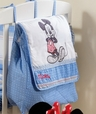 Disney Baby Blue Mickey Mouse Dance Crib Bedding Accesory - Diaper Bag / Nappy Bag