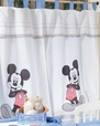 Disney Baby Blue Mickey Mouse Dance Crib Bedding Accesory - Window Curtain