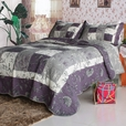 [Exuberant Spring] Cotton 3PC Vermicelli-Quilted Printed Quilt Set (King Size)