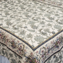 [Florence] 100% Cotton 2PC Classic Floral Vermicelli-Quilted Quilt Set (Twin Size)