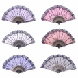 Foldable Raw Silk Printing Folding Fan FS008-ROSE-GOLD-GLITTER-MIXED-8PC