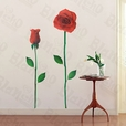 Glorious Rose 2 - X-Large Wall Decals Stickers Appliques Home Decor
