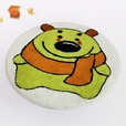 [Green Bear] Kids Room Rugs (23.6 by 23.6 inches)