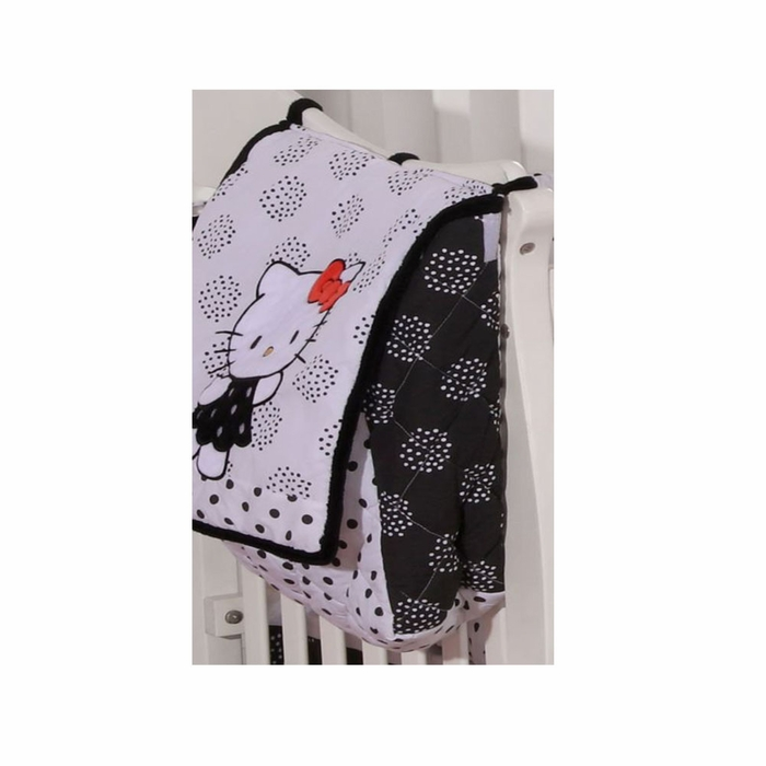 Hello Kitty Black Crib Bedding Accessory - Diaper Bag   Nappy Bag 214391edf5
