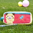 [Kitty & Fish] Embroidered Applique Pencil Pouch Bag / Cosmetic Bag / Carrying Case (7.3*3.3*1.4)