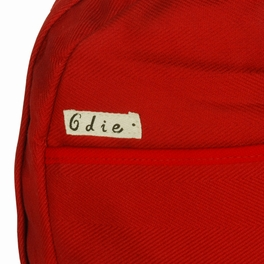 [Lively Red] Fabric Art School Backpack Outdoor Daypack