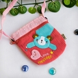 [Love Message] Embroidered Applique Mini Swingpack Bag Purse / Wallet Bag / Camera Bag (4.8*5.2)