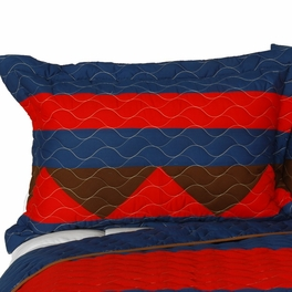 [Love Westlife] 3PC Vermicelli-Quilted Patchwork Quilt Set (Full/Queen Size)