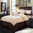 Madison Gold 8-Piece Comforter Set Olympic Queen  / European Size