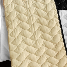 [Melody Time] 3PC Vermicelli - Quilted Patchwork Quilt Set (Full/Queen Size)