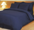 Navy Damask Stripe Down Alternative 4-pc Comforter Set, Egyptian 600 count(Full/Queen)