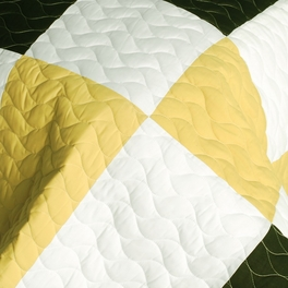 [Night Lights] 3PC Vermicelli-Quilted Patchwork Quilt Set (Full/Queen Size)