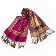 Pa-612-6 Big Flower Pattern Exquisitely Soft Woven Pashmina/Shawl/Scarves