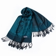 Pa-615-4 Dark Green Base Flower Patterns Elegant super Soft Woven Tassel Ends Pashmina/Shawl/Scarve